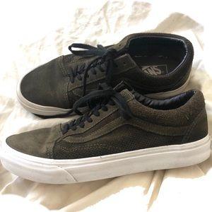 Old Skool Vans - Army Green Color